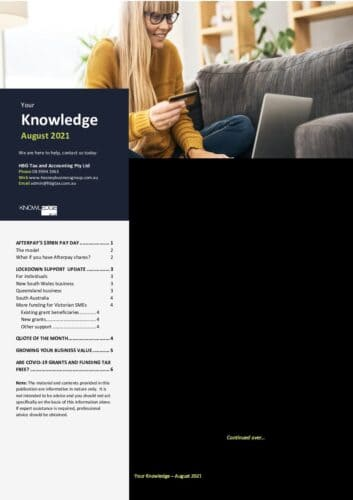 HBG - August 2021 – Your Knowledge